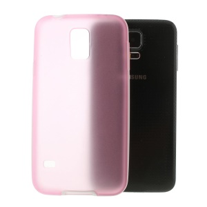 Translucent Matte TPU + Glossy PC Bumper Hybrid Case for Samsung Galaxy S5 G900 - Rose