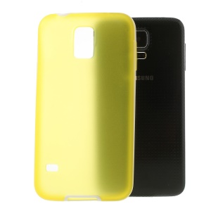 For Samsung Galaxy S5 G900 G900I Translucent Matte TPU + Glossy PC Bumper Hybrid Cover - Yellow