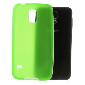 For Samsung Galaxy S5 G900 G900A Translucent Matte TPU + Glossy PC Bumper Hybrid Cover - Green