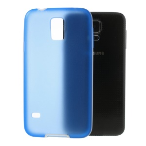 For Samsung Galaxy S5 G900 G900T Translucent Matte TPU + Detachable Glossy PC Bumper Hybrid Shell - Blue