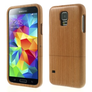 Natural Cherry Wood 2-Piece Design Wooden Hard Case for Samsung Galaxy S5 G900