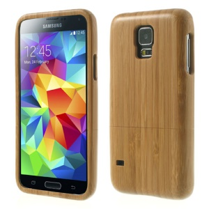 For Samsung Galaxy S5 G900 G900F Real Bamboo 2-Piece Design Hard Cover