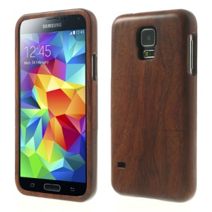 2 in 1 Genuine Wood Wooden Hard Shell for Samsung Galaxy S5 G900A G900T