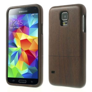 2 in 1 Natural Walnut Wooden Hard Shell for Samsung Galaxy SV GS 5 G900