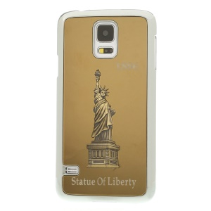 Gold 3D Statue of Liberty Aluminum Coated Plated Hard Cover for Samsung Galaxy S5 G900