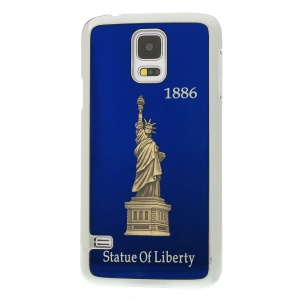 Blue 3D Statue of Liberty Aluminum Coated Plated Hard Shell for Samsung Galaxy S5 G900