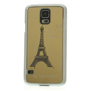 Gold 3D Metal Eiffel Tower Plated Hard Back Case for Samsung Galaxy S5 G900