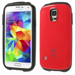 Superb iFace PC & TPU Hybrid Back Case for Samsung Galaxy S5 SV G900 - Red