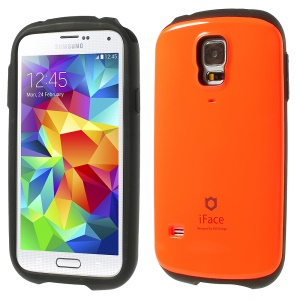 Superb iFace for Samsung Galaxy S5 G900 Hybrid PC & TPU Cover Case - Orange