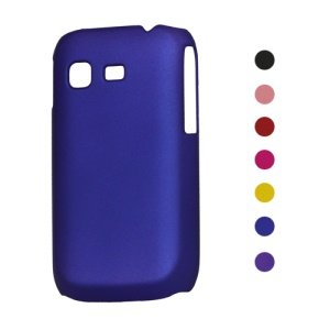 Rubberized Frosted Hard Case for Samsung Galaxy Pocket S5300;Red