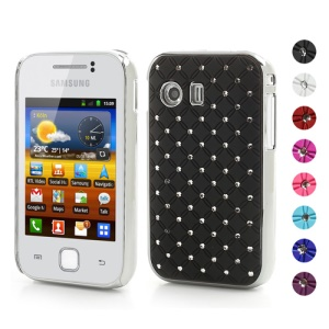 Sparkling Rhinestone Checkered Hard Case for Samsung Galaxy Y S5360
