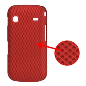 Dream Mesh Hard Plastic Case for Samsung Galaxy Gio S5660;Red