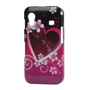 Heart Flower Hard Plastic Case for Samsung Galaxy Ace S5830
