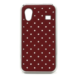 Diamond Bling Rubberized Hard Case for Samsung Galaxy Ace S5830 - Red