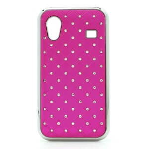 Diamond Bling Rubberized Hard Case for Samsung Galaxy Ace S5830 - Rose