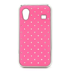 Diamond Bling Rubberized Hard Case for Samsung Galaxy Ace S5830 - Pink