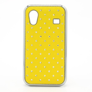 Diamond Bling Rubberized Hard Case for Samsung Galaxy Ace S5830 - Yellow