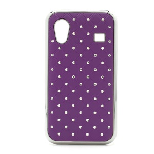 Diamond Bling Rubberized Hard Case for Samsung Galaxy Ace S5830 - Purple