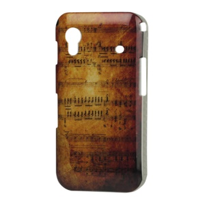 Hard Plastic Case for Samsung Galaxy Ace S5830 Antique Music Staff Score