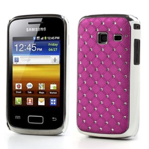 Babysbreath Shiny Diamond Hard Protector Case for Samsung Galaxy Y Duos S6102 S6102B - Rose