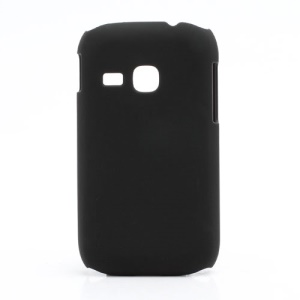 Rubberized Matte Hard Case Cover for Samsung Galaxy Young S6310 - Black