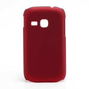 Rubberized Matte Hard Case Cover for Samsung Galaxy Young S6310 - Red