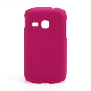Rubberized Matte Hard Case Cover for Samsung Galaxy Young S6310 - Rose