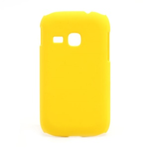 Rubberized Matte Hard Case Cover for Samsung Galaxy Young S6310 - Yellow