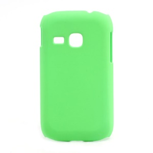 Rubberized Matte Hard Case Cover for Samsung Galaxy Young S6310 - Green