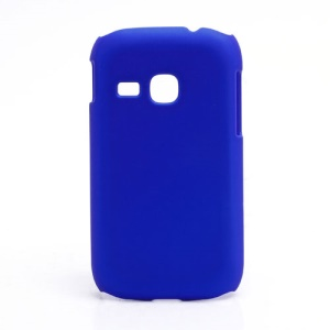 Rubberized Matte Hard Case Cover for Samsung Galaxy Young S6310 - Dark Blue