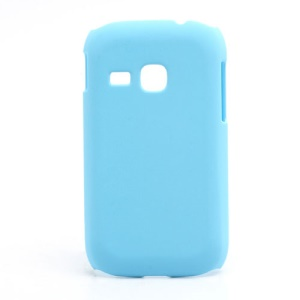 Rubberized Matte Hard Case Cover for Samsung Galaxy Young S6310 - Baby Blue