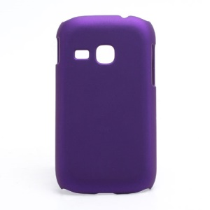 Rubberized Matte Hard Case Cover for Samsung Galaxy Young S6310 - Purple