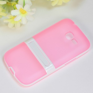 Matte TPU + PC Hybrid Kickstand Shell for Samsung Galaxy Star Pro S7260 S7262 - Pink