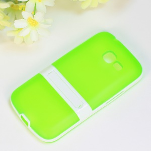 Matte TPU + PC Hybrid Case Kickstand for Samsung Galaxy Star Pro S7260 S7262 - Green