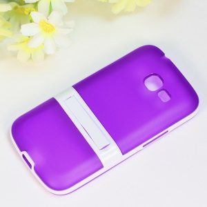Kickstand Hybrid Matte TPU + PC Case for Samsung Galaxy Star Pro S7260 S7262 - Purple