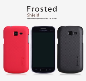 Nillkin Super Frosted Shield Hard Case for Samsung Galaxy Trend Lite S7390 S7392;Red