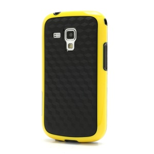Anti-slip TPU &amp; Plastic Hybrid Case Accessories for Samsung Galaxy S Duos S7562 - Black / Yellow
