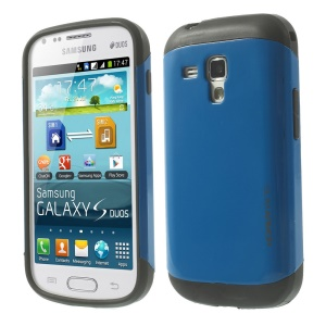 For Samsung Galaxy S Duos S7562 / Trend Plus S7580 PC + TPU Shell Case - Light Blue