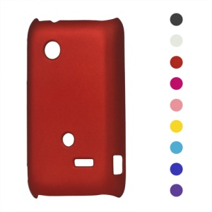 Rubberized Hard Plastic Case for Sony Xperia tipo ST21i ST21a Tapioca