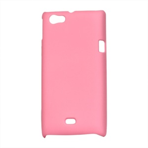 Rubberized Hard Plastic Case for Sony Xperia miro ST23i ST23a - Pink