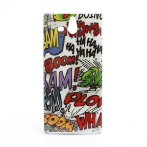 Graffiti HAHA BOOM Hard Protective Case for Sony Xperia U ST25a / ST25i Kumquat