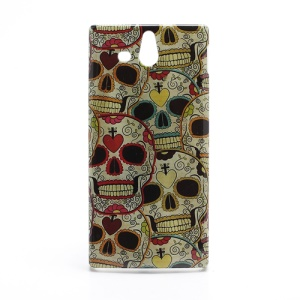 Unique Skull Heads Sleek Hard Protective Case for Sony Xperia U ST25a / ST25i Kumquat