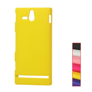 Rubberized Hard Case for Sony Xperia U ST25a / ST25i Kumquat