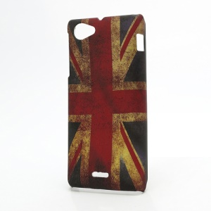 Retro UK Flag Design Hard Case Shell for Sony Xperia J ST26i ST26a