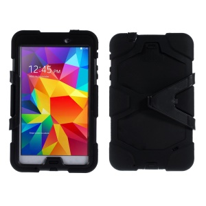 Military Duty PC + Silicone Hybrid Case for Samsung Galaxy Tab 4 8.0 T330 T331 T335 - Black