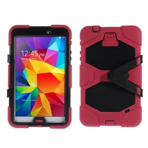 Military Duty PC + Silicone Hybrid Case Shell for Samsung Galaxy Tab 4 8.0 T330 T331 T335 - Red