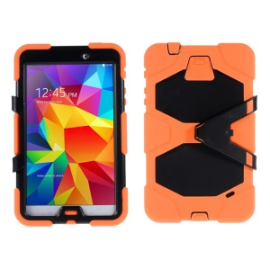 Military Duty PC + Silicone Hybrid Shell Cover for Samsung Galaxy Tab 4 8.0 T330 T331 T335 - Orange