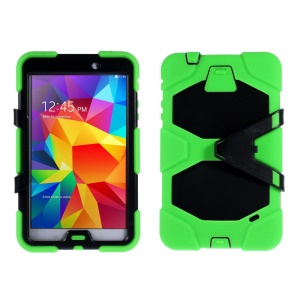 Military Duty PC + Silicone Hybrid Case Cover for Samsung Galaxy Tab 4 8.0 T330 T331 T335 - Green