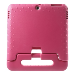 Lightweight Kids Thick EVA Foam Handle Stand Case for Samsung Galaxy Tab 4 10.1 T530 T531 T535 - Rose