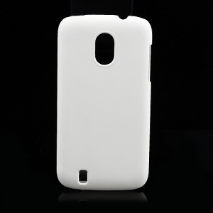Frosted Rubberized Plastic Case Cover for ZTE V889M Blade 3 III - White